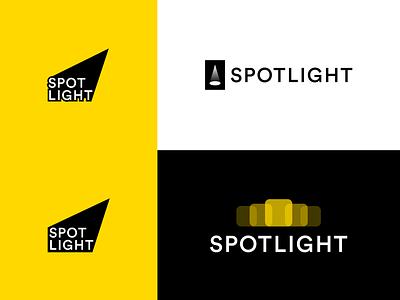 Spotlight Logo Drafts spotlight yellow branding logodesign logo