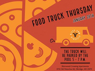Food truck Thursday Event Flyer vector design illustration