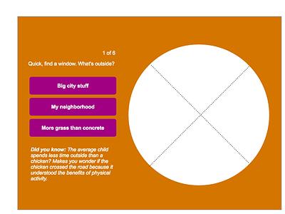 Interactive Outdoor Quiz Mock 3 animation design ui design web