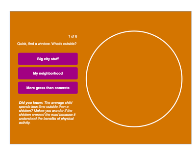 Interactive Outdoor Quiz Mock 2 animation design ui web design