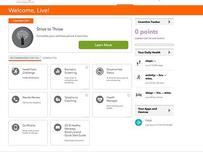Commercial Client Health Portal css3 html5 responsive design ui web design