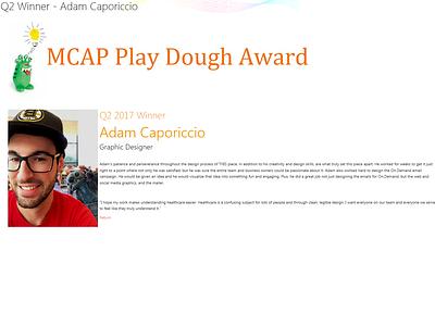 MCAP Play Dough Award Winner Bio Expanded web sharepoint2013 jquery ui html5 css3 ui