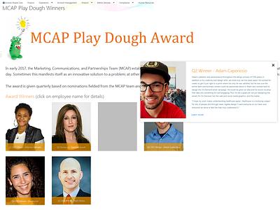 MCAP Play Dough Award Winner Bio jquery ui sharepoint2013 html5 css3 web ui