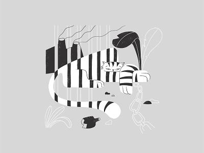 Tiger captive tiger animal lover character design illustration tiger