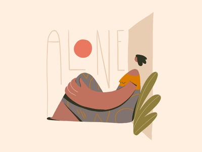 Alone poem art direction illustration character design maya angelou alone