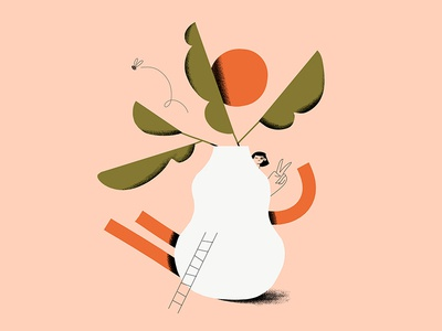 Ceramic Life abstract design plants woman illustration character design art direction