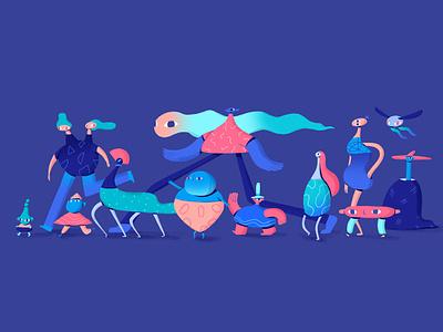 Parade creature design creature design diversity parade photoshop character design illustration art direction