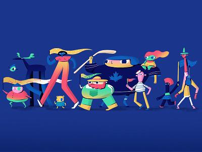 Parade human diversity photoshop design character design illustration art direction