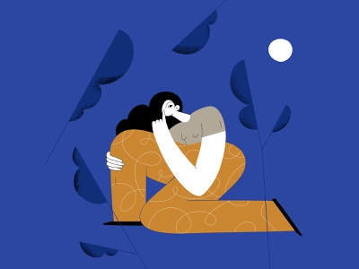 Quiet night photoshop illustrator illustration woman quiet