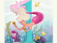 Mermay Day 1 procreate mermay illustration characterdesign mermaid