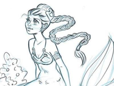 Mermaid Leia - MerMay Day 4 princessleia starwars characterdesign madewithmischief mermay mermaid