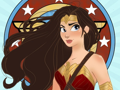 Believe In Love - Wonder Woman photoshop sketchbookpro characterdesign wonderwoman