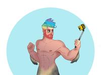 Merman dribbble
