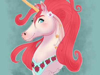 Fancy Unicorn character design sketch procreate app fantasy