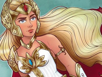 She-Ra The Princess of Power sketch digital art she-ra procreate
