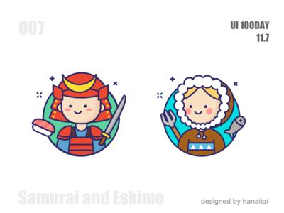Samurai and Eskimo