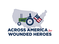 Across America for Wounded Heroes Logo