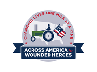 Across America for Wounded Heroes Badge