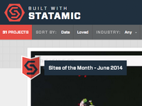 Sites Of The Month for @builtwstatamic