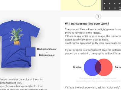 Will transparent files ever work? WIP transparent blue tshirt design webpage wip faq print layout web pineapple printful