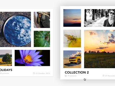 Photo Collection Card Hover - Clean