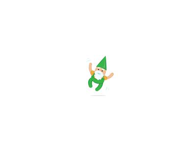 Festive gnome is festive
