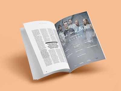 THE SOUND POETS MAGAZINE SPREAD band magazine ad magazine design cover