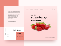 Strawberry - Golden Rectangle Composition