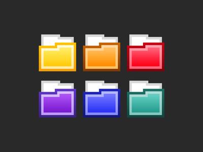 Modern Flat Folder Icon Set