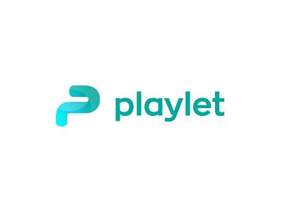 Playlet 1 01 vector ilustración tipografía marca icono logo diseño