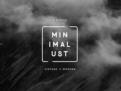 Minimalust Vintage Typeface