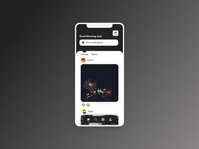 Social Media App Mockup socialmedia social ui app mobile ios minimal flat design clean