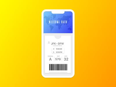 Travel Ticketing App Concept web logo vector ux ui typography type mobile minimal lettering ios illustration icon flat design clean branding brand art app