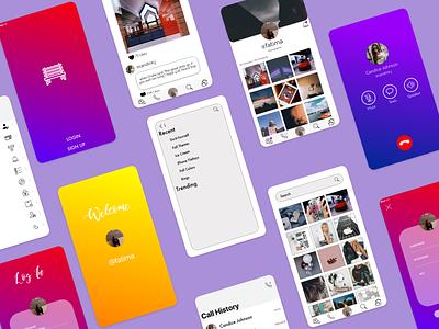 Benchpost UI brand ui typography app mobile minimal ios flat design clean