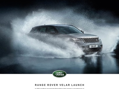 Range Rover Velar Launch adobe photoshop indesign sketch invision strategy ux land rover