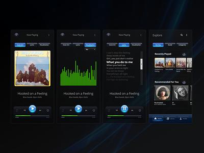Music Player - concept based on Windows Aero (OG Glassmorphism) songs audio blue glassmorphic glassmorphism glass aero windows music player player music figma ui design app