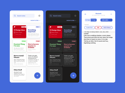 Simple Notes App notes app notes figma ui design app