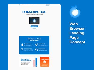Web Browser Landing Page Concept page landing website design download web design figma web browser landing page browser webpage website