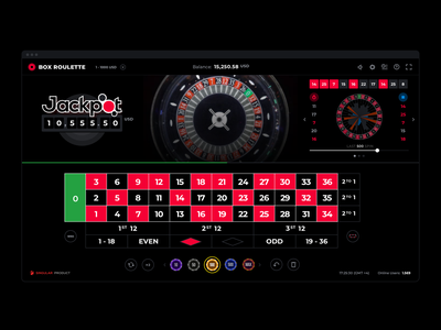 Roulette Web & Mobile Design ux uiux ui zero wheel igaming gambling casio