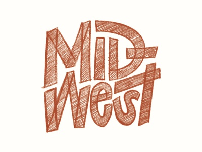 MID-west midwestern midwest app procreate typography illustration hand lettering lettering design