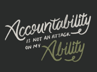 accountABILITY app procreate typography hand lettering lettering design