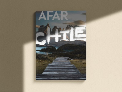 AFAR Chile Magazine Mockup magazine design mockup print magazine procreate hand lettering lettering design