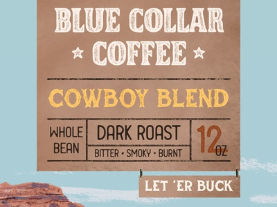 BCC Cowboy Blend Label (1/2) packaging design packaging brand identity brand design brand coffee cup coffee shop coffee branding procreate typography illustration hand lettering lettering design