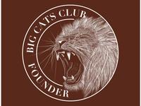 Big Cats Club Lion Sticker