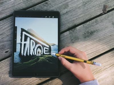 Wandering Wednesday | Faroe ipad photography travel hand lettering lettering design