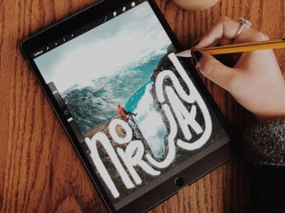 Wandering Wednesday | Norway procreate ipad sky coffee lake mountain photography norway hand lettering lettering design