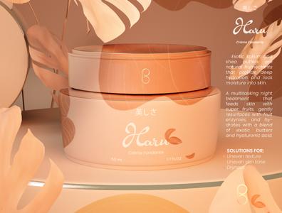 Haru - Packaging Design 3d product design 3d product cosmetic spring packaging design package design package beauty 3d art 3d