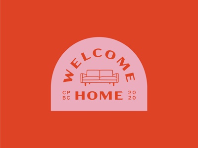Welcome Home summer camp camp identity welcome home icon flat vector branding illustration design