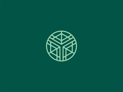 Contemplative Garden Logo Concept meditation garden mark line church branding church logo church design logo vector flat branding