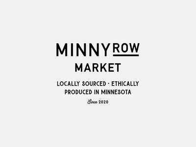 Main Street Minnesota Grocery Store logotype wordmark logo grocer grocery store market local business small business shop small minnesota main street identity vector design branding lockup